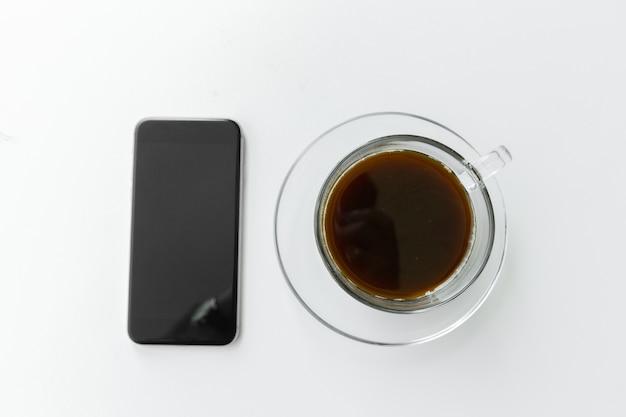 Telefone e café