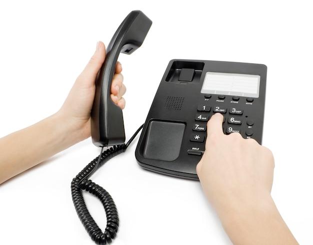 Telefone em branco isolado