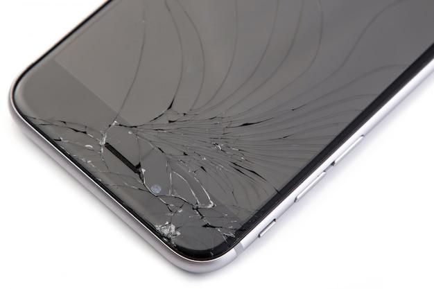 Telefone inteligente com display quebrado