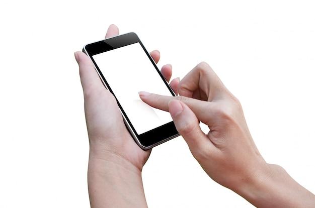 Telefone inteligente e mão