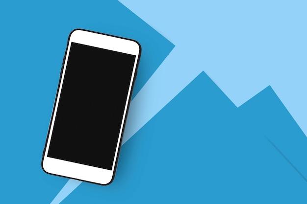 Telefone inteligente móvel mock up vazio na tela
