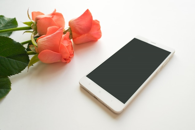 Telefone móvel com espaço da cópia