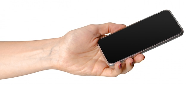 Telefone móvel isolado no branco