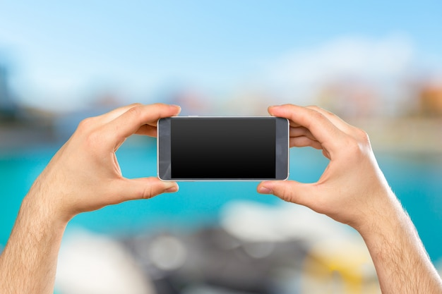 Telefone móvel moderno