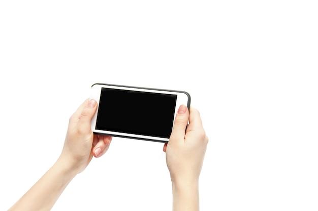 Telefone nas mãos