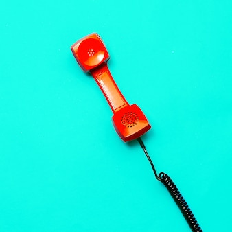Telefone retro. arte de design minimalista