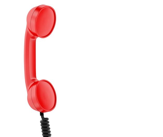 Telefone retrô vermelho.