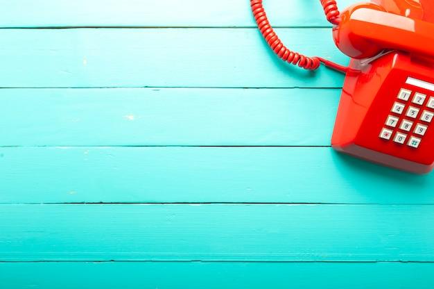 Telefone vermelho clássico