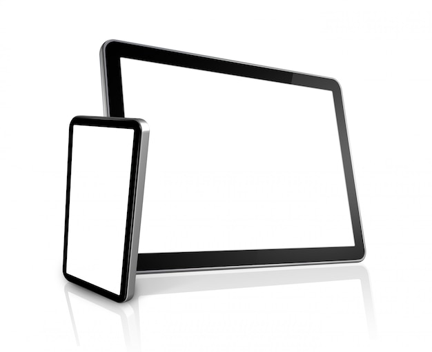 Telemóvel e computador digital tablet pc