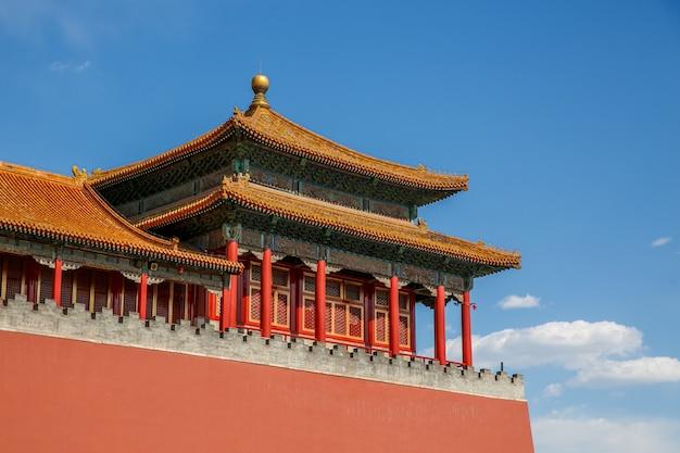 Telhado arquitetônico tradicional chinês