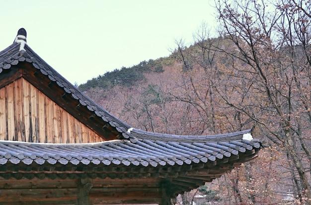 Telhado de arquitetura tradicional coreana