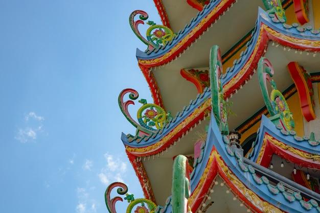 Telhado do santuário chinês