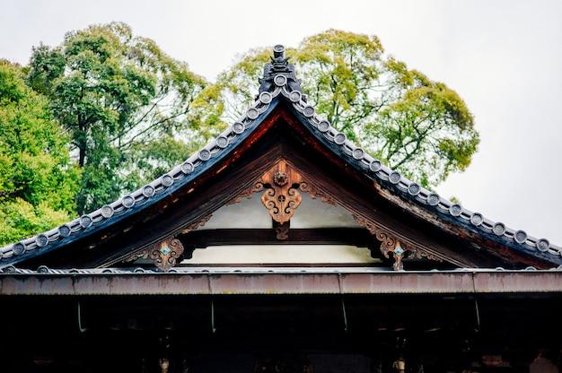 Telhado do templo tradicional japão