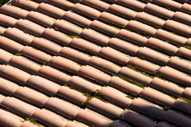 Telhado feito de cerâmica, vista do telhado