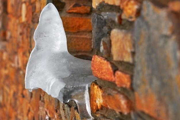 Telhado gelado closeup detalhe fundo