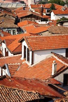 Telhados, de, antigas, ancara