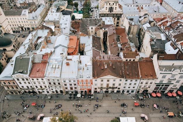 Telhados de arquitetura da cidade bonita