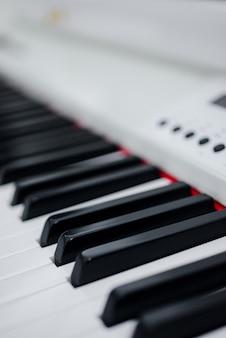 Telhas de piano close-up