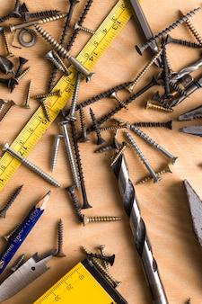 Tema de construção. ferramenta de trabalho
