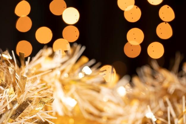 Tema dourado na festa de ano novo