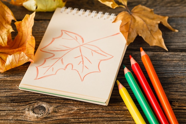 Tema e criatividade do outono