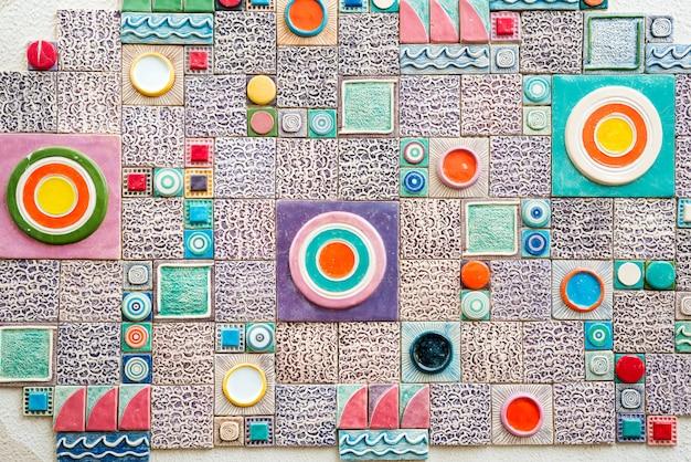Tema marinho da telha de mosaico da parede pequena