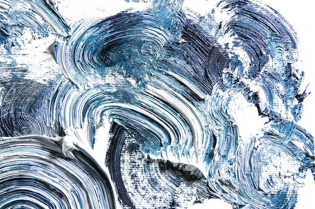 Tempestade. creme pintura texturizada em fundo transparente, arte abstrata. papel de parede para dispositivo, copyspace para publicidade. o produto artístico do artista, bicolor. inspiração, ocupação criativa.