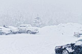 Tempestade de neve caindo