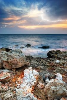 Tempestade do mar.
