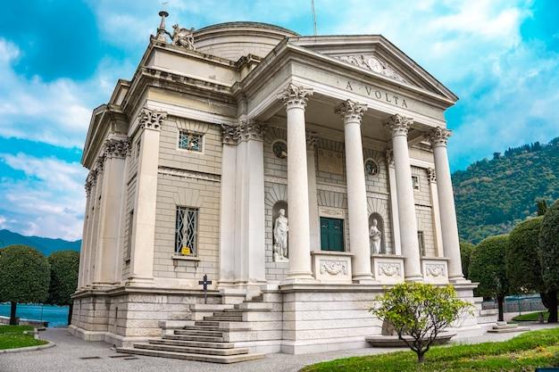 Tempio voltiano, um museu em como, itália, dedicado ao cientista alessandro volta