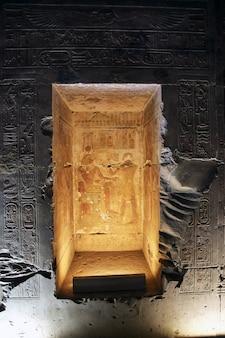 Templo antigo abydos no deserto do saara, egito