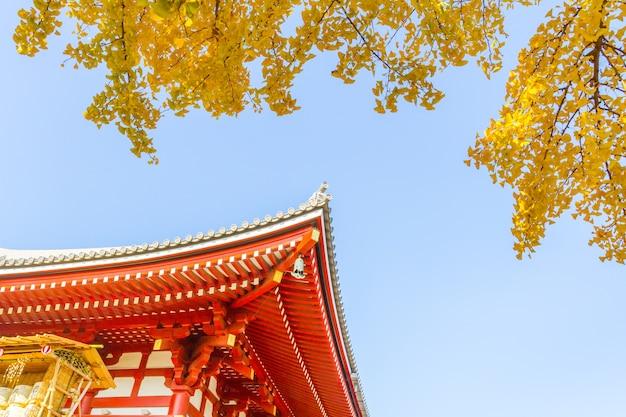Templo budista de sensoji em asakusa, tóquio japão