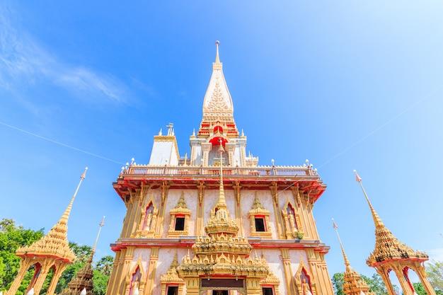 Templo chaitararam (templo wat chalong) na província de phuket tailândia