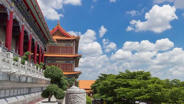 Templo chinês e céu