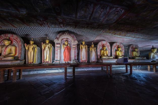 Templo da caverna de dambulla, sri lanka