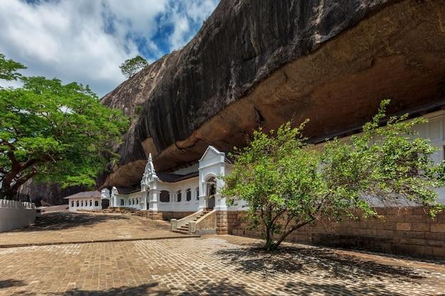 Templo da rocha em dambulla sri lanka