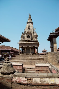Templo da velha cidade budista. baktaphur, nepal