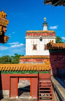 Templo das quatro grandes regiões no palácio de verão em pequim, china