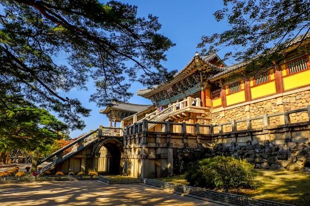 Templo de bulguksa no outono