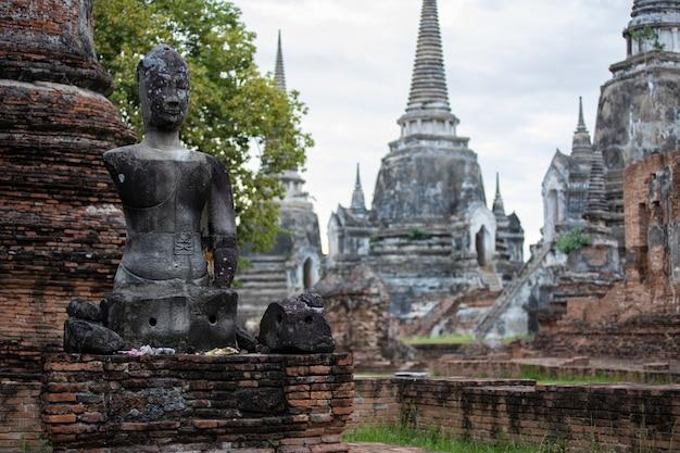 Templo de phra sri sanphet na província de phra nakhon si ayutthaya, tailândia
