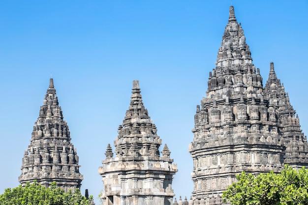 Templo de prambanan, yogyakarta na ilha de java, indonésia