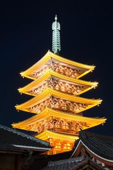Templo de senjoji em tóquio no japão