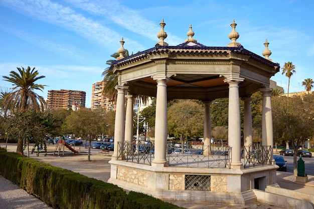Templo de templete de valência no parque alameda