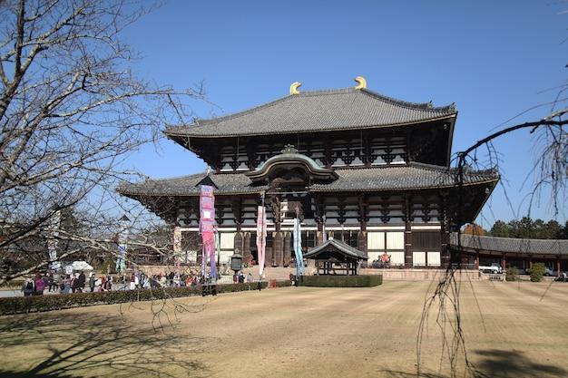 Templo de todai-ji o templo o mais famoso da cidade de nara, área de kansai, japão.