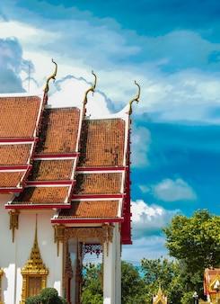 Templo de wat chalong na tailândia