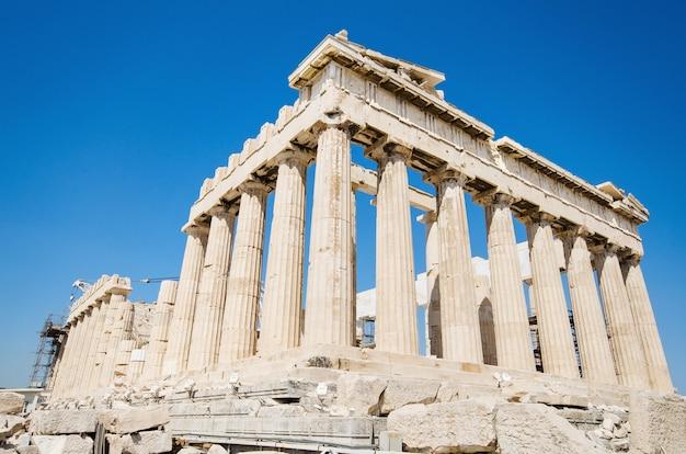 Templo famoso do parthenon na acrópole, atenas, grécia.