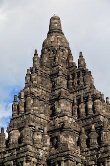 Templo hindu de prambanan em yogyakarta, java, indonésia