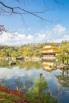 Templo kinkakuji em kyoto no japão