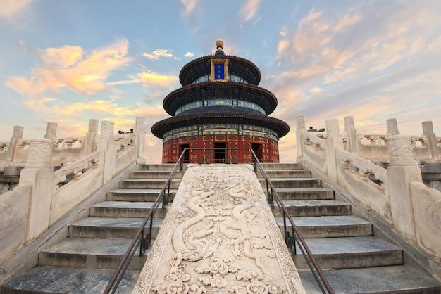 Templo maravilhoso e surpreendente de beijing - templo do céu em beijing, china.