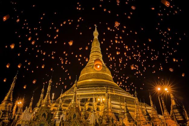 Templo shwedagon em yangon, mianmar